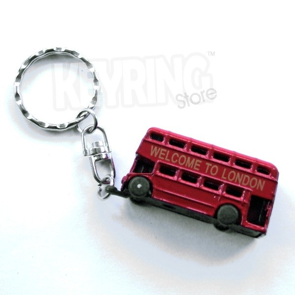 London Bus Keyring - Double Decker - Red - Classic style cf82620f7