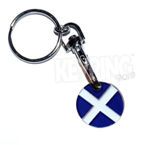Trolley Coin Keyring - Scottish Flag