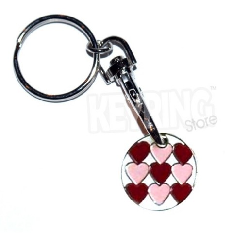 Trolley Coin Keyring - Hearts