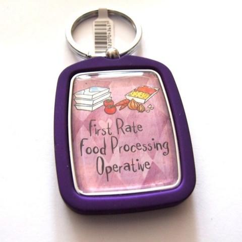 Food Processing Operative Keyring
