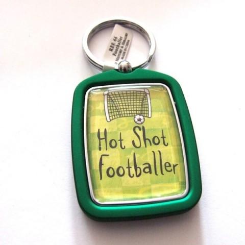 Footballer Keyring