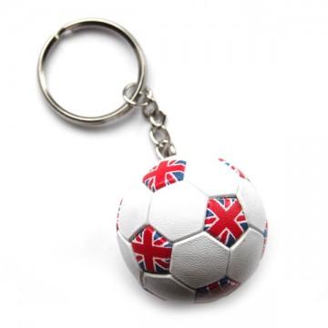 POOL BALL 8 Ball Sport Quality Leather and Chrome Keyring